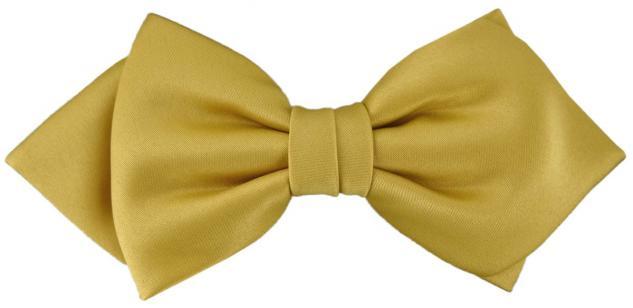 vorgebundene TigerTie Spitzfliege Schleife in gold Einfarbig + Geschenkbox
