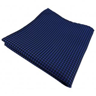 schönes Einstecktuch in blau dunkelblau schwarz gemustert - Tuch 100% Polyester