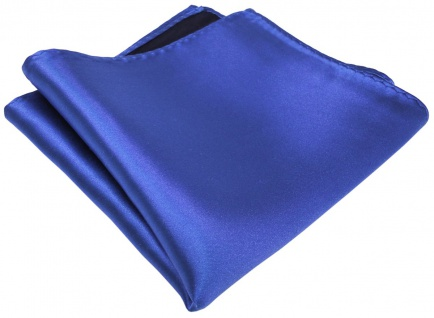 schönes gewebtes TigerTie Designer Satin Seideneinstecktuch in royal blau Uni