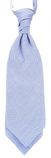TigerTie Plastron Pique 2tlg Krawatte + Einstecktuch in hellblau-weiss gemustert - Vorschau 2