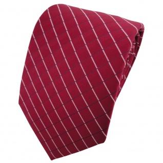 TigerTie Designer Krawatte rot weinrot silber schwarzblau gestreift - Binder