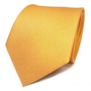 TigerTie Designer Seidenkrawatte gelb sonnengelb Uni - Krawatte Seide Silk Tie