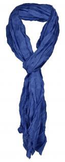 gecrashter TigerTie Seidenschal in blau royal einfarbig - Schal Gr. 180 x 50 cm - Vorschau