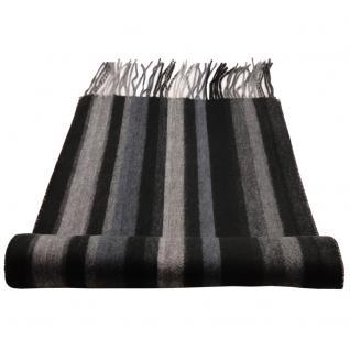 Feiner Designer Schal schwarz anthrazit grau dunkelgrau gestreift - Cashmink