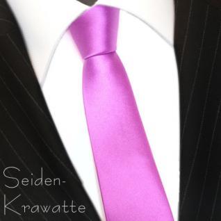 schmale TigerTie Designer Seidenkrawatte in Satin pink - Tie Krawatte 100% Seide