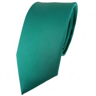 Modische TigerTie Satin Seidenkrawatte in grün einfarbig - Krawatte 100% Seide