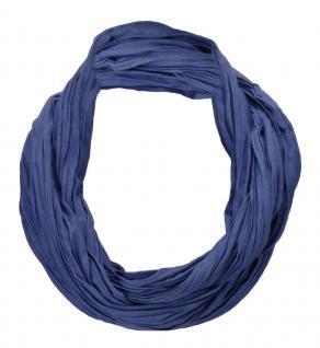 TigerTie Loop Schal in dunkelblau einfarbig Uni - Schlauchschal Rundschal