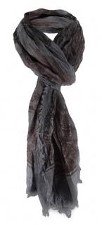 Raffschal in anthrazit dunkelbraun grau gemustert - Schal Größe 180 x 80 cm