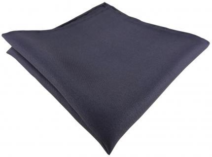 Einstecktuch handrolliert anthrazit einfarbig Uni - 100% Seide - Gr. 30 x 30 cm