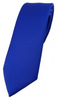 schmale TigerTie Designer Krawatte dunkles royalblau einfarbig Uni - Tie Schlips
