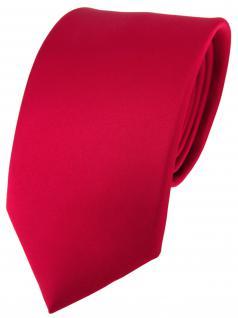 Designer Krawatte Seide Rot Weinrot Uni Silk Tie