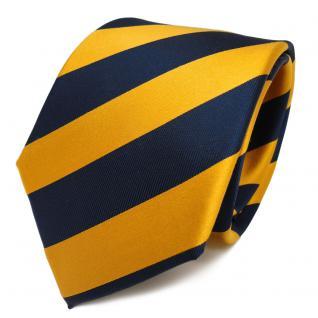 TigerTie Seidenkrawatte gelb gold gelbgold royal gestreift - Krawatte Seide Tie