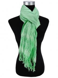 Halstuch in grün weiß fein kariert Gr. 200 cm x 50 cm - Tuch Schal Baumwolle