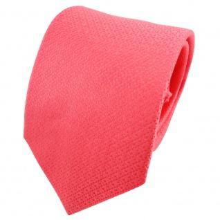 TigerTie Satin Seidenkrawatte rot rosé gemustert - Krawatte Seide Binder Tie