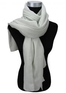 Feiner Chiffon Schal in grau leicht mintfarben einfarbig Uni - Gr. 190 x 110 cm - Vorschau
