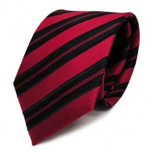 Designer Seidenkrawatte rot signalrot schwarz gestreift Krawatte Seide Tie