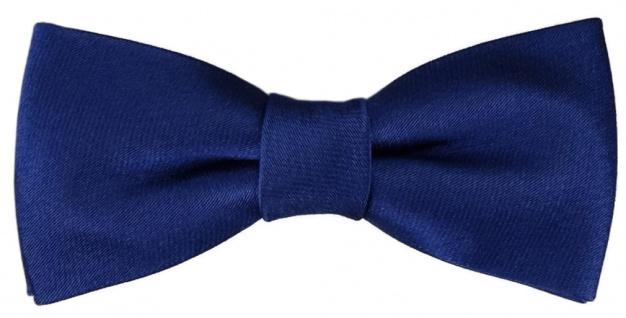 TigerTie Kleinkinder Baby Seidenfliege in royal blau mit Gummizug - Fliege Seide