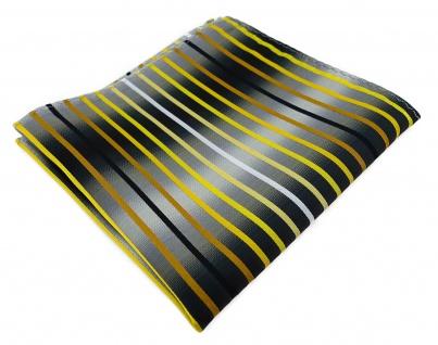 TigerTie Einstecktuch in gelb gold braun weiss silbergrau schwarz gestreift