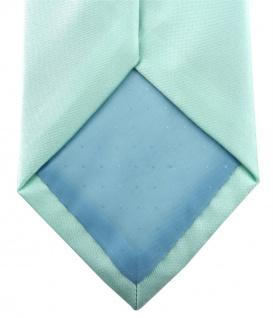 TigerTie Satin Krawatte + TigerTie Einstecktuch in mint grün Uni einfarbig - Vorschau 3