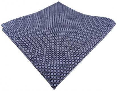 TigerTie Designer Seideneinstecktuch in blau brillantblau marine gemustert