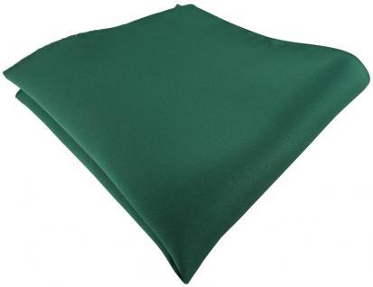 TigerTie Satin Einstecktuch in moosgrün einfarbig Uni - Größe 26 x 26 cm