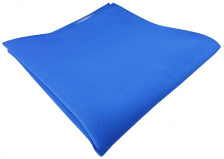 TigerTie Einstecktuch in blau einfarbig Uni - Gr. 30 x 30 cm