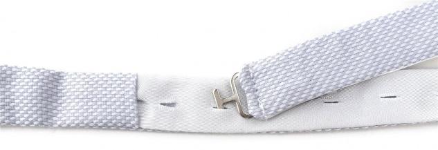 TigerTie Kleinkinder Baby Fliege hellgrau-weiß mit Sichtband + Tuch + Box - Vorschau 2