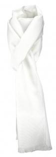 TigerTie Unisex Schal Pique in weiss uni gemustert - Größe 180 x 28 cm