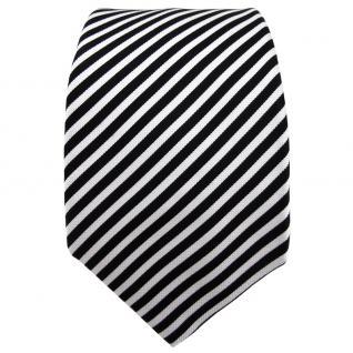 Enrico Sarto Seidenkrawatte schwarz weiß gestreift - Krawatte Seide Tie - Vorschau 2