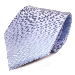 TigerTie Designer Krawatte hellblau blau silber gestreift - Schlips Binder Tie - Vorschau 2