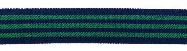 TigerTie - Stretchgürtel grün blau dunkelblau gestreift - Bundweite 100 cm - Vorschau 4
