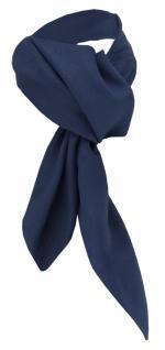 TigerTie Damen Chiffon Halstuch blau dunkelblau Uni Gr. 90 cm x 90 cm - Schal