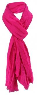 TigerTie Damen Chiffon Halstuch pink magenta Uni Gr. 180 cm x 50 cm - Tuch Schal