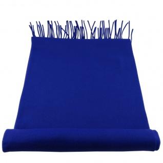 TigerTie Designer Schal in blau ultramarinblau Uni einfarbig - Cashmink