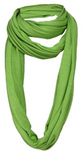 TigerTie Loop Schal in grün einfarbig Uni - Gr. 180 x 40 cm - Rundschal