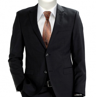 Schmale TigerTie Seidenkrawatte orange rot anthrazit grau Paisley - Krawatte tie - Vorschau 3