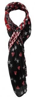 TigerTie Designer Schal in rot rose grau schwarz gemustert