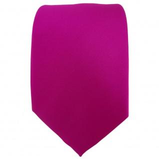 TigerTie Designer Krawatte in magenta einfarbig Uni - Vorschau 2
