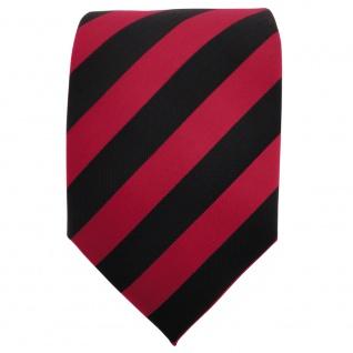 TigerTie Krawatte rot dunkelrot karminrot schwarz gestreift - Binder Schlips Tie - Vorschau 2