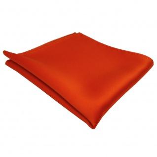 TigerTie Einstecktuch in orange leuchtorange einfarbig - Tuch Polyester