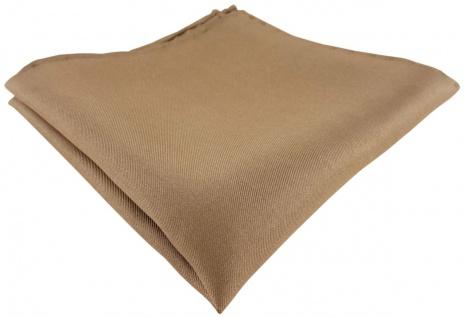 Einstecktuch handrolliert braun einfarbig Uni - 100% Seide - Gr. 30 x 30 cm