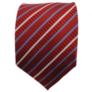 TigerTie Seidenkrawatte orange dunkelorange blau silber gestreift - Krawatte - Vorschau 2
