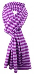 Damen Schal lila flieder gestreift Gr. 172 cm x 27 cm - Halstuch Tuch