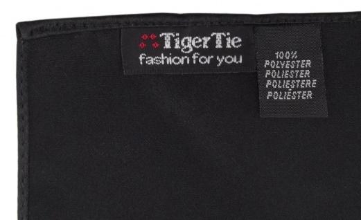 TigerTie Satin Einstecktuch in schwarz einfarbig Uni - Größe 26 x 26 cm - Vorschau 2