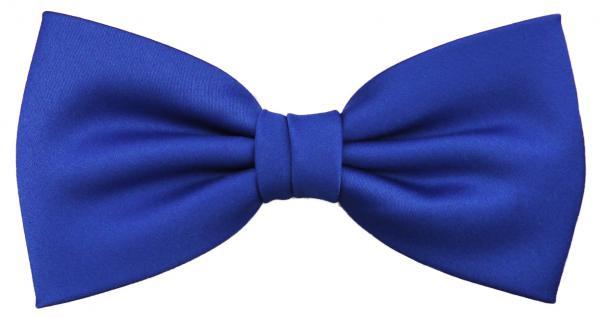 schöne TigerTie Designer Fliege in blau royalblau leuchtblau Uni + Geschenkbox