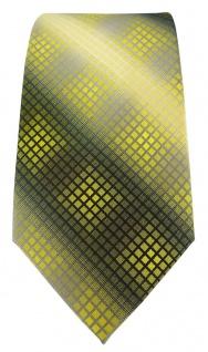 TigerTie Designer Krawatte in gelb gold silber grau schwarz kariert - Vorschau 2