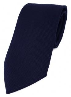 TigerTie Designer Krawatte Pique in marine gemustert - 100% Baumwolle