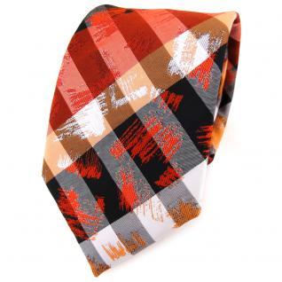 TigerTie Designer Krawatte in orange grau silber schwarz gestreift - Tie Binder
