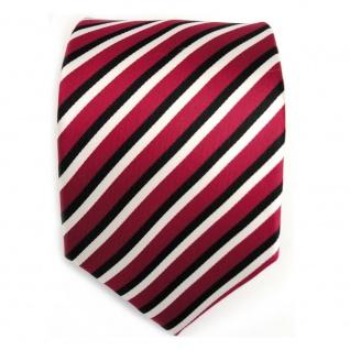 TigerTie Designer Krawatte - Schlips Binder rot schwarz weiss gestreift - Tie - Vorschau 2