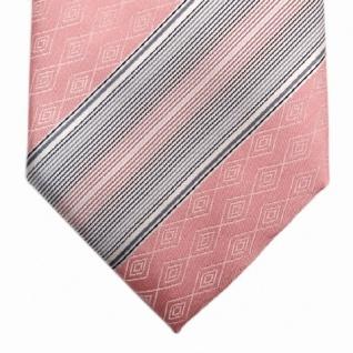 Mexx Seidenkrawatte rosa grau silber gestreift - Krawatte Seide Tie - Vorschau 3